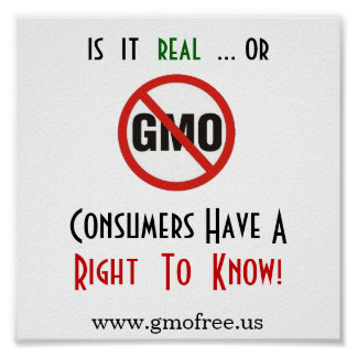 Poster - GMO, Right to Know