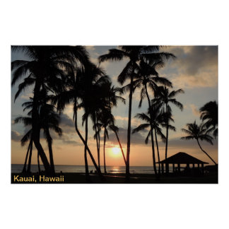 Poster - Hawaii Beach Sunset