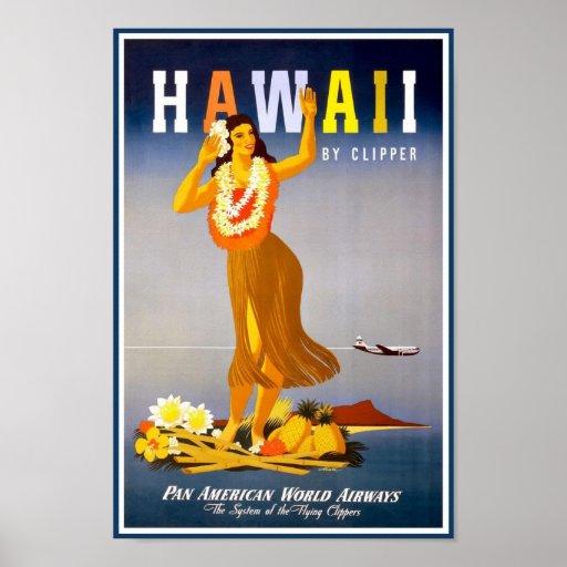 Poster-Hawaii Vintage Advertisement Poster