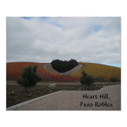 Poster: Heart Hill, Paso Robles,  in Autumn Poster