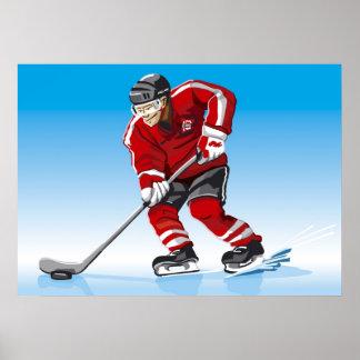 Poster Ice Hockey Player Winter Sport