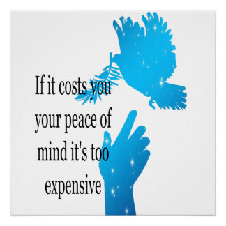 Poster If it costs you your peace of mind