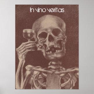 Poster In vino veritas = In wine, Truth Skeleton
