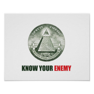 poster know your enemy illuminati