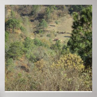 Poster Landscape Mountain Cradles Quiche Guatemala