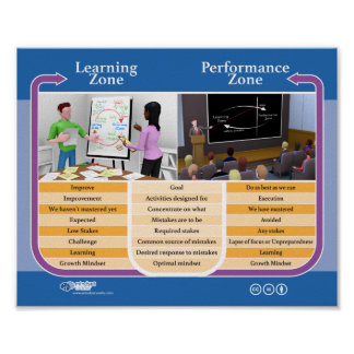 Poster: Learning Zone vs Performance Zone @ Work Poster