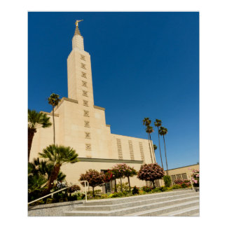 Poster Los Angeles LDS Temple Vertical View 24X20