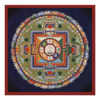 POSTER Mandala of Compassion -starting from $14.25