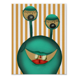 Poster monster, children's room poster, picture of