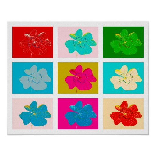 poster more clover colorful popart