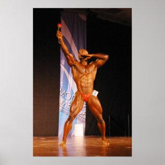 Poster, Morris Mendez, Bodybuilder with a rose Poster