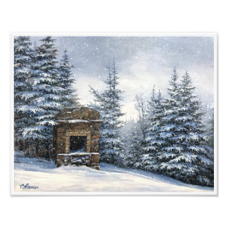 Poster - Mt Starr King Stone Fireplace