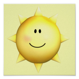 Poster mural happy face sunshine 11x11 customize