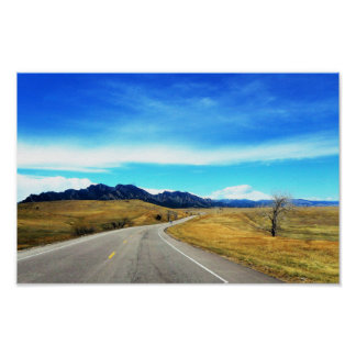 Poster Nature Scene Photography Mountains Roads