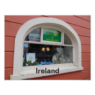 Poster of a shop window in Ireland