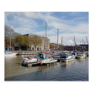 Poster of Bristol Harbour with Arnolfini 28 x20