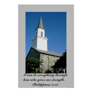 Poster of Church photo with Philippians 4:13