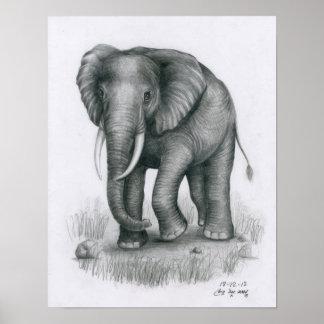Poster of Elephant by Vannak Anan Prum