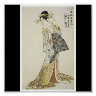 Poster of Japanese painting c. 1796-97