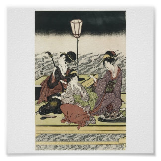 Poster of Japanese Painting c. 1800's