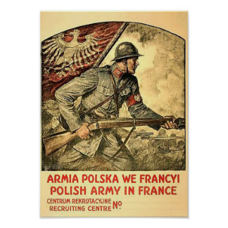Poster of polish propaganda during WW1