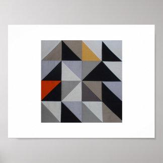 Poster - Orange Geometric Triangle