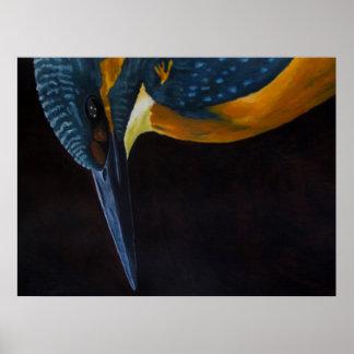 Poster painting IJsvogel'