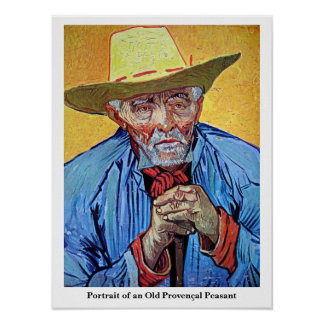 """Poster """"Portrait of an Old Peasant""""  by Van Gogh"""