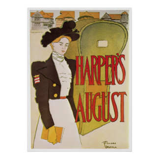 Poster/Priint:  Harper's August - Edward Penfield Poster