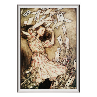 Poster/Print: Alice & the Pack of Cards Poster