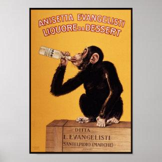 Poster/Print: Anissetta Liquor Monkey Poster