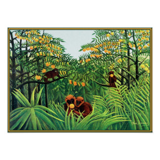 Poster/Print: Apes in the Orange Grove by Rousseau Poster