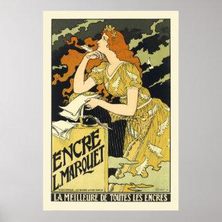 Poster/Print:  Art Nouveau Vintage Poster