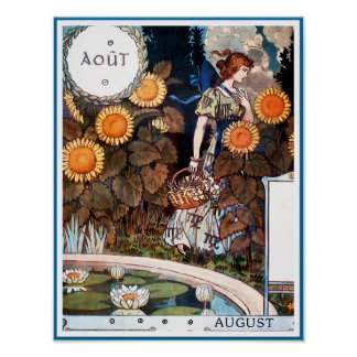 Poster/Print:  August/ Auot Poster