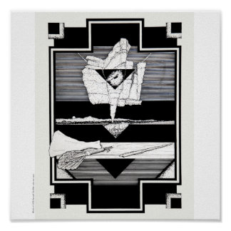 "Poster/Print: ""Cliffs/Nature Morte"" Poster"