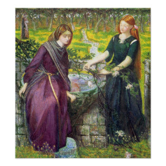 Poster/Print: Dante's Vision of Rachel and Leah Poster