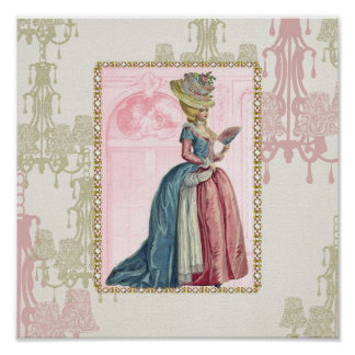 Poster/print French Lady