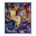 Poster/Print: Girl with Elves - Maxfield Parrish Poster