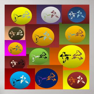 poster print karate martial arts