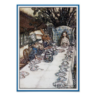 Poster/Print:  Mad Hatter's Tea Party - Rackham Poster