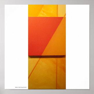 """Poster/Print: """"Overlay I-Orange"""" Poster"""