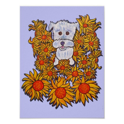 Poster Print- Roxie Heart Dog Westie