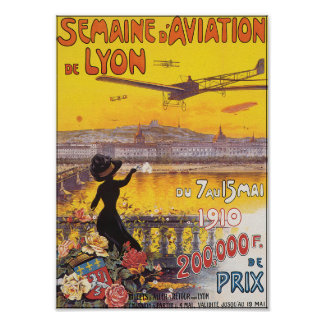 Poster/Print: Semaine d' Aviation De Lyon Poster