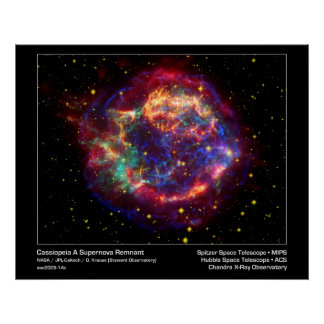Poster/Print: Supernova - Cassiopeia Space Image