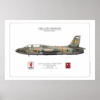 Poster profile AT-26 Xavante - BAF