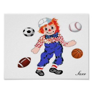 Poster/ Raggedy Andy - Great for Boys Bedroom Poster