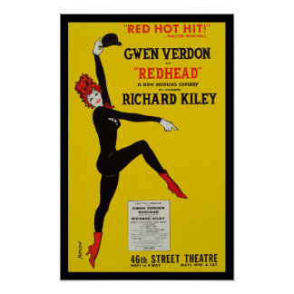 Poster reproduction Redhead Broadway musical