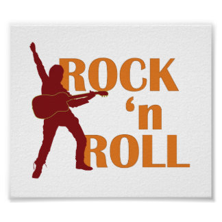poster - rock Roll (music design)