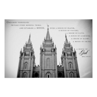 Poster - Salt Lake City Utah LDS Temple 2