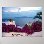 poster Santorini Greece